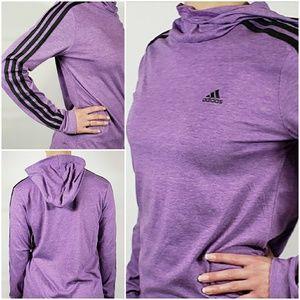 NWT! Adidas Ladies Purple Jersey Hoody
